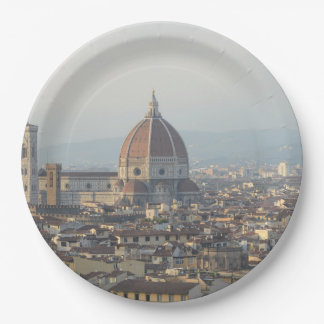 Florence Italy Cityscape Paper Plate