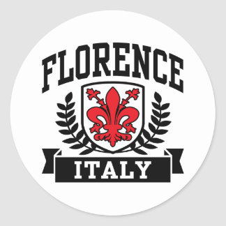 Florence Italy Classic Round Sticker