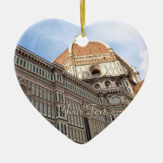 Florence Italy Duomo Holiday Photo Ceramic Ornament