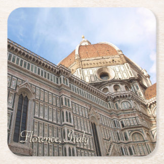 Florence Italy Duomo Holiday Photo Square Paper Coaster