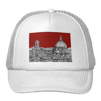 Florence Italy in red Trucker Hat