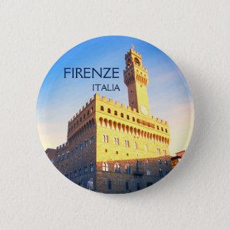 Florence, Italy - Piazza della Signoria 6 Cm Round Badge