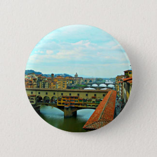 Florence, Italy shopping bridge 6 Cm Round Badge
