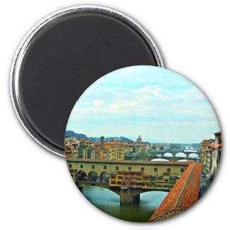Florence, Italy shopping bridge 6 Cm Round Magnet