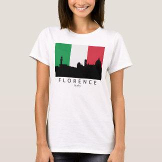 Florence Italy Skyline Italian Flag T-Shirt