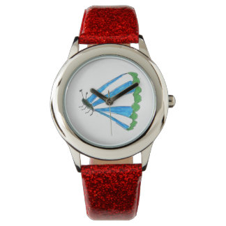 Florence Kids Red Glitter Watch