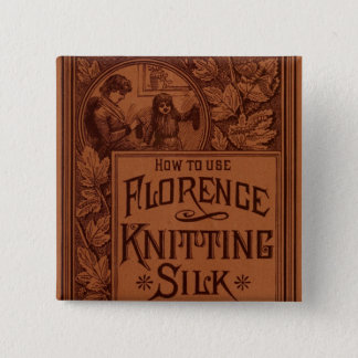 Florence Knitting Silk cover 15 Cm Square Badge