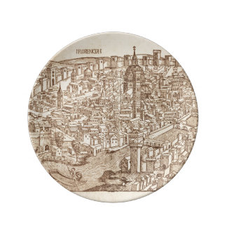 Florence, Medieval Woodcut Plate