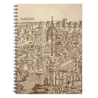 Florence, Medieval Woodcut Spiral Notebook