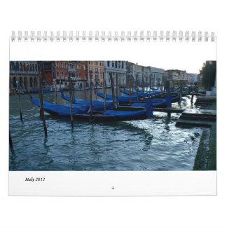 Florence, Milan and Rome Calendars