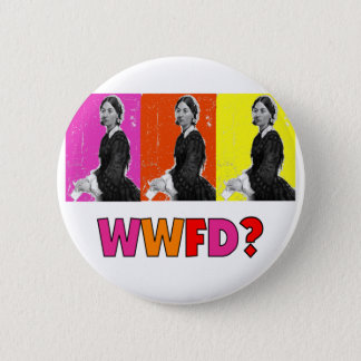 """Florence Nightengale Gifts """"WWFD?"""" 6 Cm Round Badge"""
