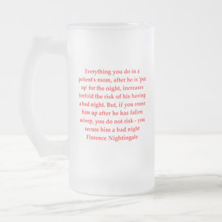 florence nightingale frosted glass beer mug