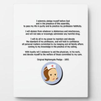 Florence Nightingale Pledge Plaque
