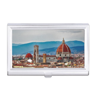 Florence old city, Italy skyline Business Card Holder