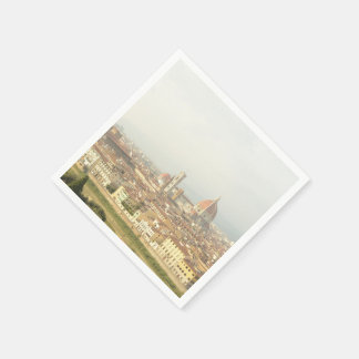 Florence or Firenze Italy Cityscape Disposable Napkin