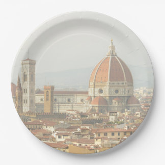 Florence or Firenze Italy Cityscape Paper Plate