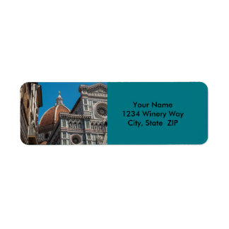 Florence or Firenze Italy Duomo Return Address Label