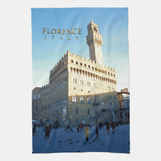 Florence - Piazza della Signoria Tea Towel