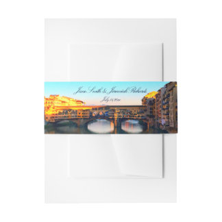 Florence - Ponte Vecchio Invitation Belly Band