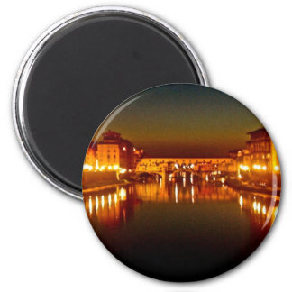Florence river at night magnet
