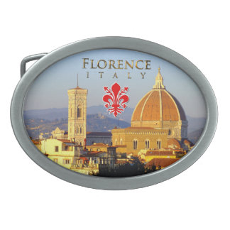 Florence - Santa Maria del Fiore Oval Belt Buckles
