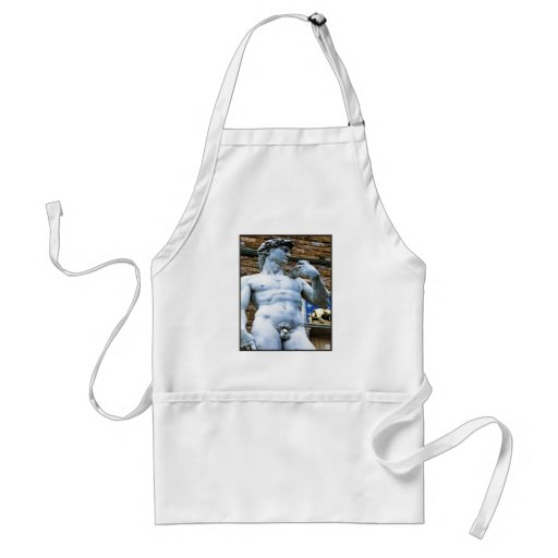 Florence Statue of David With Love Quote Aprons