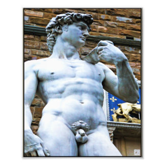 Florence Statue of David With Love Quote Photograph