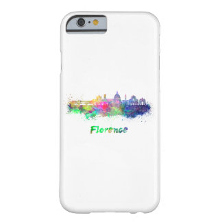 Florence V2 skyline in watercolor Barely There iPhone 6 Case