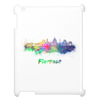 Florence V2 skyline in watercolor iPad Cover