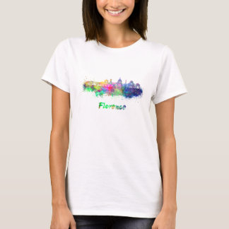 Florence V2 skyline in watercolor T-Shirt