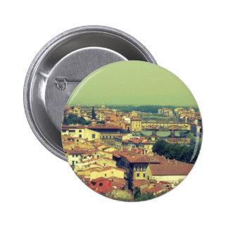 Florence view- bridge of gold/golden bridge 6 cm round badge