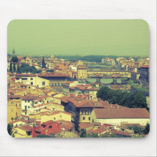 Florence view- bridge of gold/golden bridge mouse pad