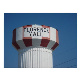 Florence Y'all Water Tower Poster