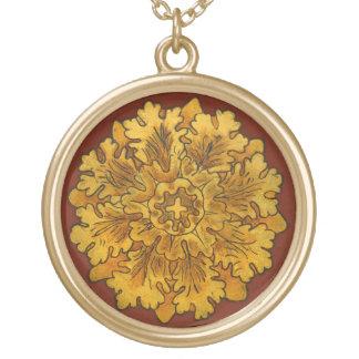 Florentine Oak Leaf Cluster Necklace