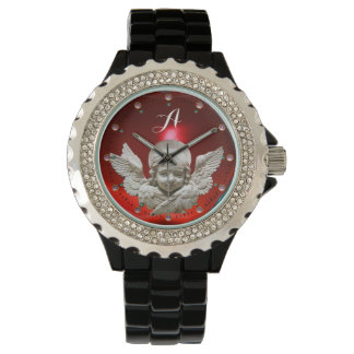 FLORENTINE RENAISSANCE ANGEL, Red Ruby Monogram Watch