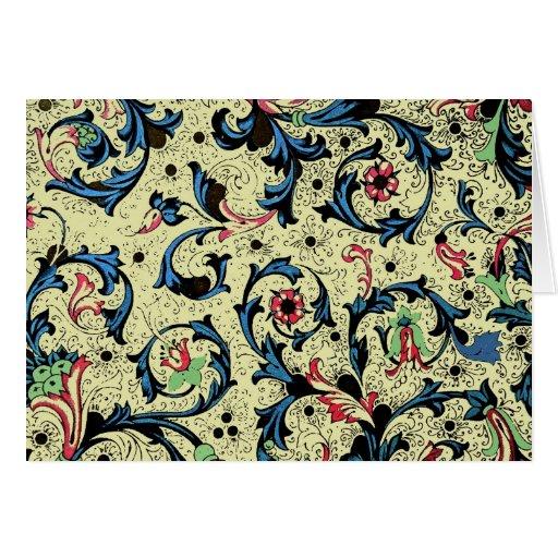 Florentine Renaissance Floral Note Card