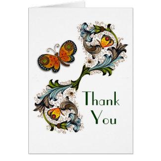 Florentine Renaissance Floral Thank You Card