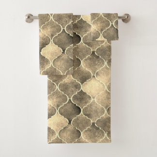 Florentine Tiles in Sepia Colors Bath Towel Set