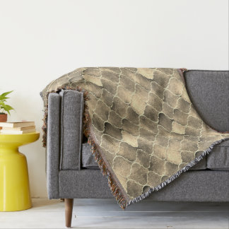 Florentine Tiles in Sepia Colors Throw Blanket