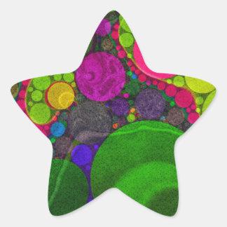 Florescent Abstract Huge Dots Star Sticker
