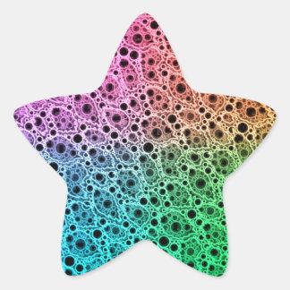 Florescent Abstract Star Sticker