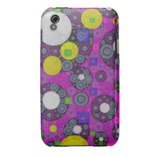 Florescent Abstract Texture Shapes iPhone 3 Cases