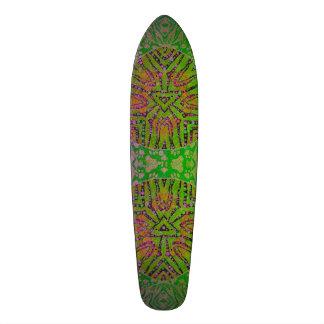 Florescent Animal Print Abstract Custom Skate Board