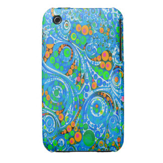 Florescent Blue Green Abstract iPhone 3 Case-Mate Case