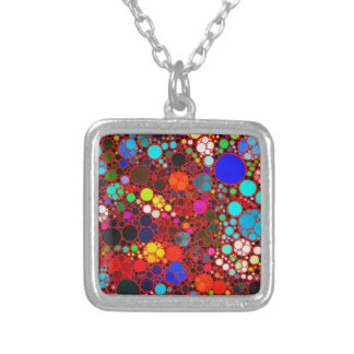 Florescent Bold Abstract Pattern Bling Necklace