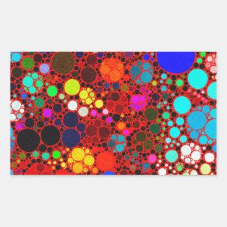 Florescent Bold Abstract Pattern Bling Rectangular Sticker