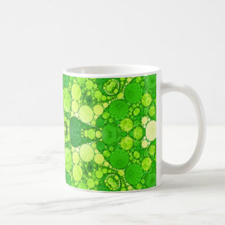 Florescent Fractal Basic White Mug