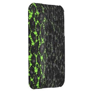 Florescent Green Leopard Print Case-Mate iPhone 3 Case