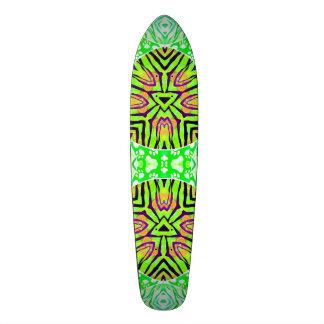 Florescent Green Zebra Paws Custom Skate Board