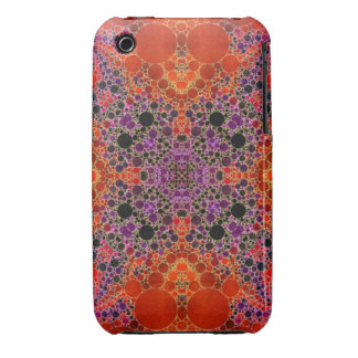 Florescent Orange Unique Abstract Pattern Case-Mate iPhone 3 Case